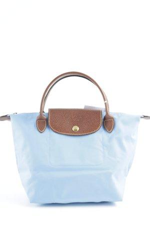 Longchamp Bolso azul celeste-marrón look casual