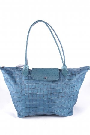 Longchamp Handtasche petrol Tortoisemuster Street-Fashion-Look