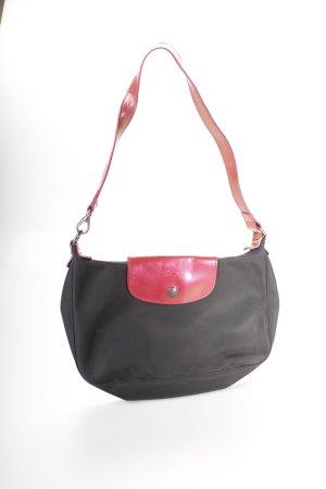Longchamp Handtasche schwarz-rot