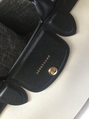 Longchamp Handtasche schwarz weiß