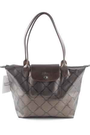 Longchamp Handtasche schwarzbraun-dunkelbraun Schimmer-Optik
