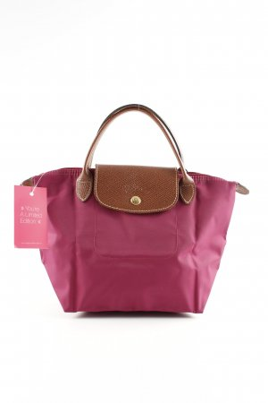 Longchamp Henkeltasche pink-braun Animalmuster Casual-Look