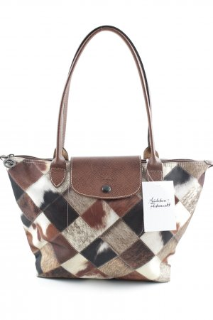 Longchamp Carry Bag abstract pattern casual look