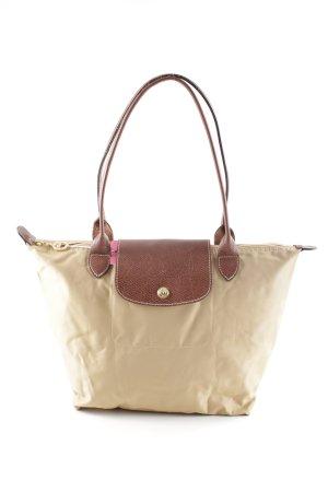 Longchamp Carry Bag beige-cognac-coloured casual look