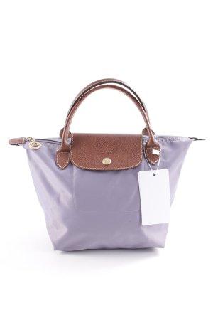 Longchamp Henkeltasche blasslila-cognac Street-Fashion-Look