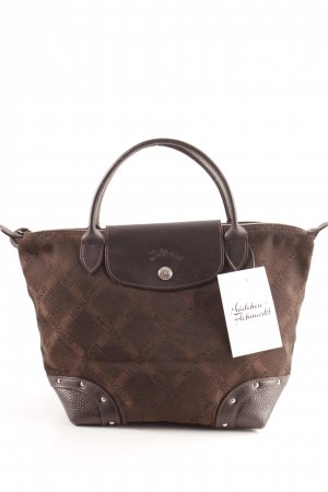 Longchamp Carry Bag brown-dark brown monogram pattern business style