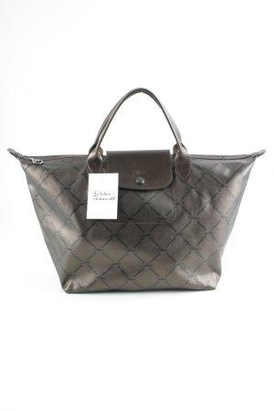 Longchamp Henkeltasche bronzefarben-schwarz Monogram-Muster Casual-Look