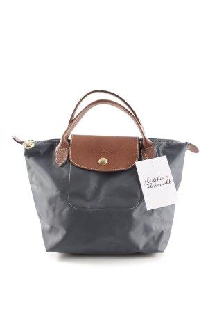 Longchamp Carry Bag cognac-coloured-dark blue casual look