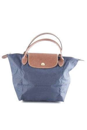 Longchamp Sac Baril cognac-bleu foncé style décontracté