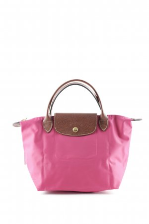 Longchamp Bolso barrel coñac-rosa look casual