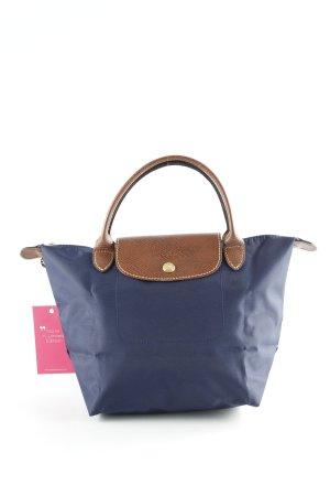 Longchamp Carry Bag dark blue-brown casual look