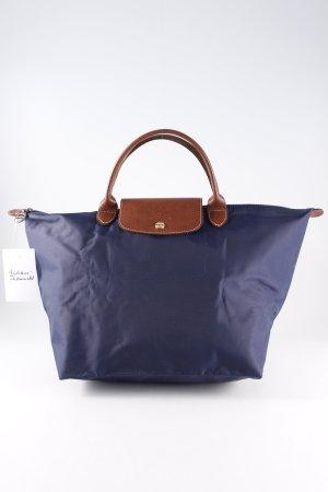 Longchamp Henkeltasche dunkelblau-braun Casual-Look
