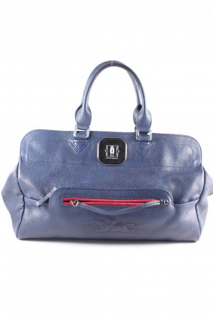 Longchamp Carry Bag dark blue-red classic style