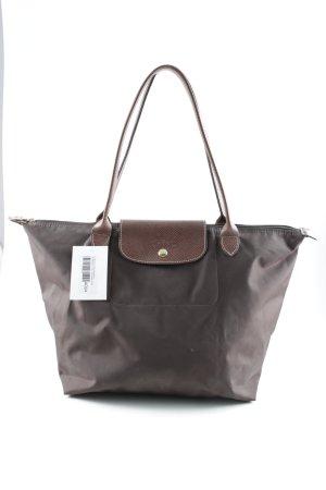 Longchamp Carry Bag dark brown-brown business style