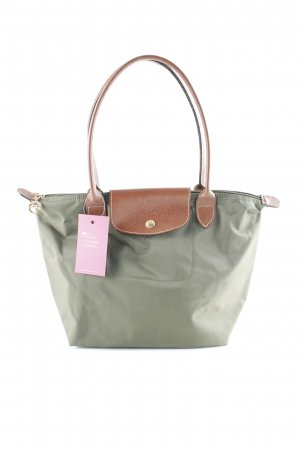 Longchamp Carry Bag dark green-brown athletic style
