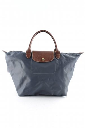 Longchamp Carry Bag slate-gray-cognac-coloured