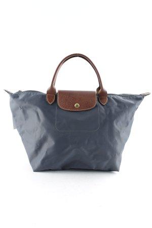 Longchamp Henkeltasche graublau-cognac
