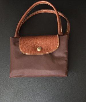 Longchamp Carry Bag dark brown nylon