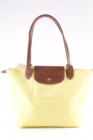 Longchamp Carry Bag lime yellow urban style