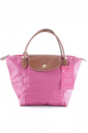 Longchamp Carry Bag magenta-brown Paris-Look