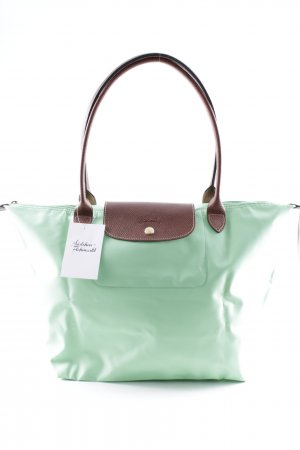 Longchamp Carry Bag neon green-brown casual look