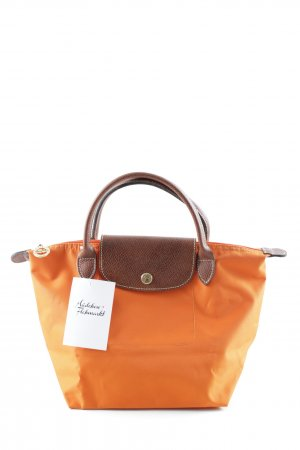 Longchamp Carry Bag neon orange-light brown casual look
