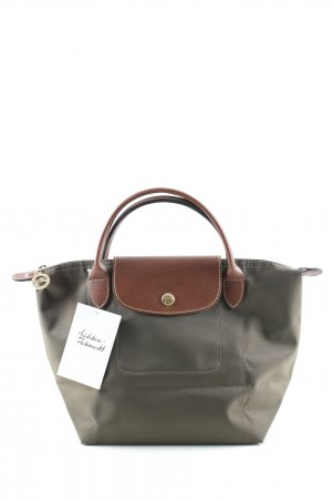 Longchamp Carry Bag olive green-light brown casual look