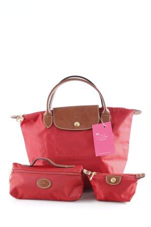 Longchamp Henkeltasche rot-braun Casual-Look