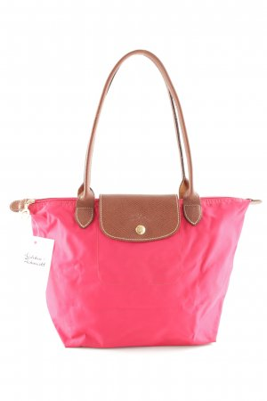 Longchamp Carry Bag red Leather items