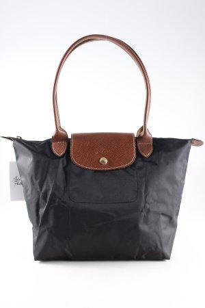 Longchamp Henkeltasche schwarz-braun Casual-Look