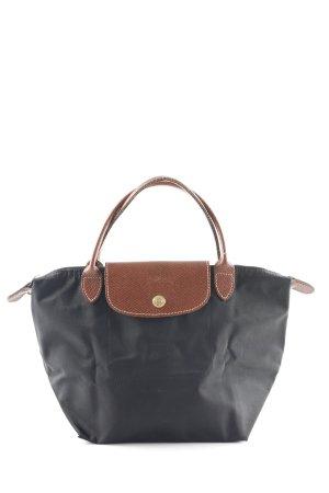 Longchamp Borsa con manico nero-marrone elegante