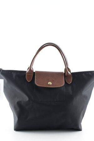 Longchamp Henkeltasche schwarz-braun klassischer Stil