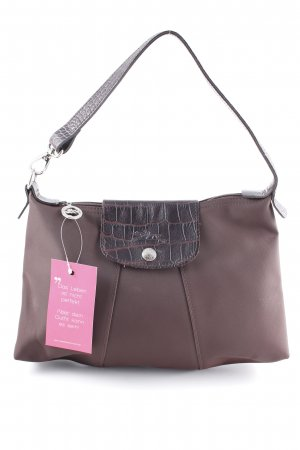 Longchamp Bolso barrel marrón-negro look casual