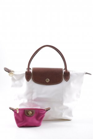 Longchamp Carry Bag natural white-cognac-coloured casual look