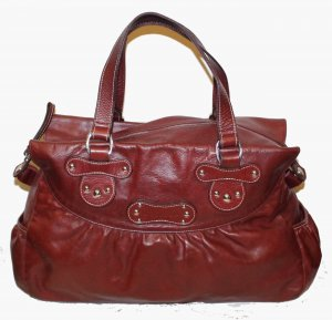 Longchamp Hobo Bag weinrot Leder
