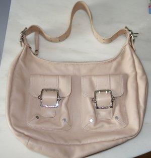 Longchamp Kate Moss Edition Leder Satchel Hobo Bag Tasche puder nude