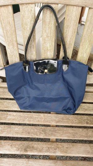 """Longchamp """"La Pliage"""" in blau mit Tragespuren"""