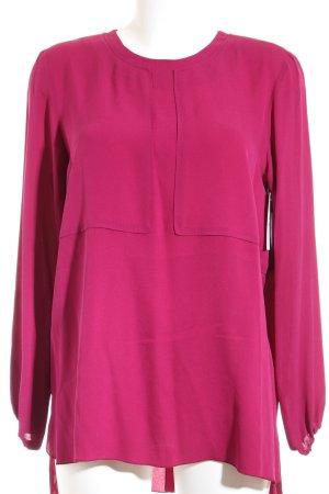Longchamp Langarm-Bluse purpur Casual-Look