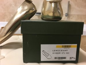 Longchamp Le Pliage Cuir Ballerina GOLD