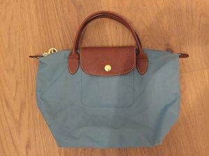 Longchamp Carry Bag cadet blue polyester