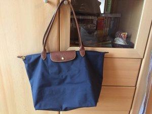 Longchamp Le pliage L dunkelblau mit langen Henkel