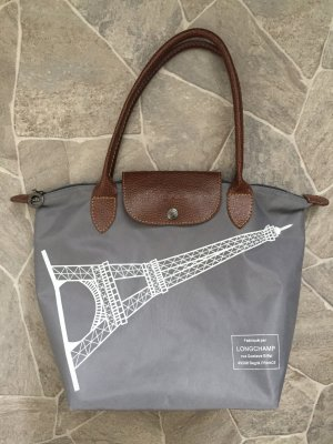 Longchamp Carry Bag grey-brown synthetic material