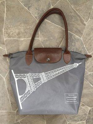 LONGCHAMP Le Pliage M limited Edition TOTE EIFFEL rar Tasche Bag grau braun