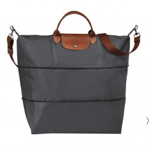 Longchamp Le Pliage Reisetasche Metallgrau