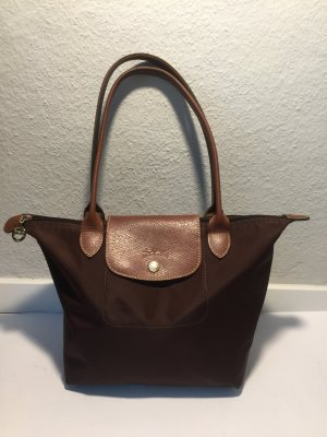 Longchamp Le Pliage Shopping Bag in braun - langer Henkel