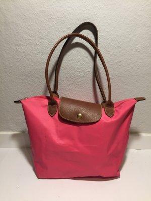 Longchamp Borsetta marrone-rosa Nylon