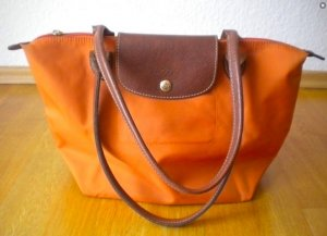 Longchamp Le Pliage Shopping Bag S, sommerliche Farbe Orange