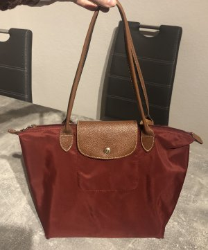 Longchamp Le Pliage Tasche Gr. M weinrot