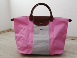 "Longchamp ""Le Pliage"" Tote Bag L in rosé/grau"