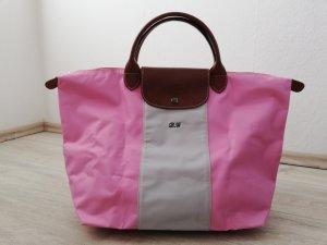 """Longchamp """"Le Pliage"""" Tote Bag L in rosé/grau"""